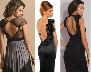 Платья с открытой спиной - элегантность и соблазнительность. Фото:  platya4you.ru