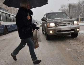 Снегопад в Москве. Фото РИА Новости