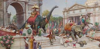 Джеймс Герни, «Парад динозавров». Холст, масло. Фото с сайта theepochtimes.com