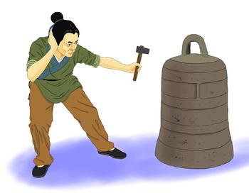«Красть колокол, заткнув уши». Иллюстрация: Чжичин Чэнь