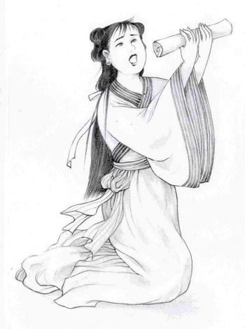 Ти-ин, мужественная дочь, которая спасла своего отца. Иллюстрация: Блу Сяо/Великая Эпоха (The Epoch Times)