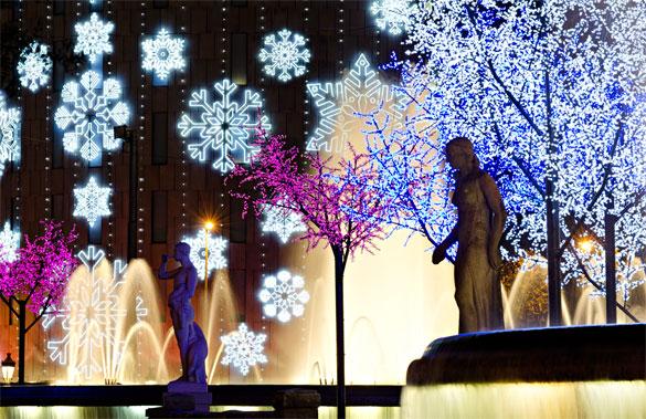 Рождественские огни Барселоны — вне этого мира. Фото: © matthi — Fotolia.com