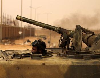 Войска Каддафи наступают на Бенгази. Фото: PATRICK BAZ/AFP/Getty Images