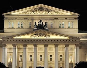 Подсветка Большого театра после реконструкции. Фото РИА Новости