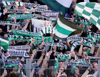 Футбольные фанаты команды «Пруссия Мюнстер». Фото: Getty Images