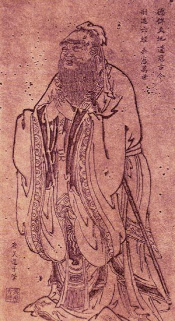 Портрет Конфуция работы китайского художника У Даоцзы,  685-758 гг. до н. э., династия Тан. Фото: Wikimedia Commons