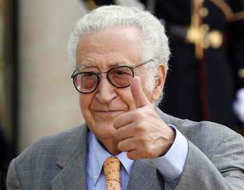 Новый посланник ООН по Сирии, бывший министр иностранных дел Алжира Лакдар Брахими. Фото: PATRICK KOVARIK/AFP/GettyImages