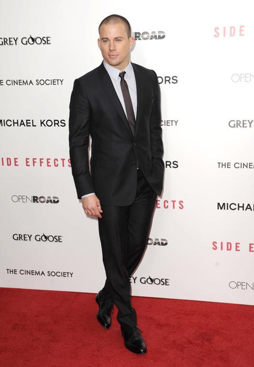 Ченнинг Татум на премьере фильма «Побочный эффект» в Нью-Йорке, 31 января 2013 года. Фото: Dave Kotinsky / Getty Images