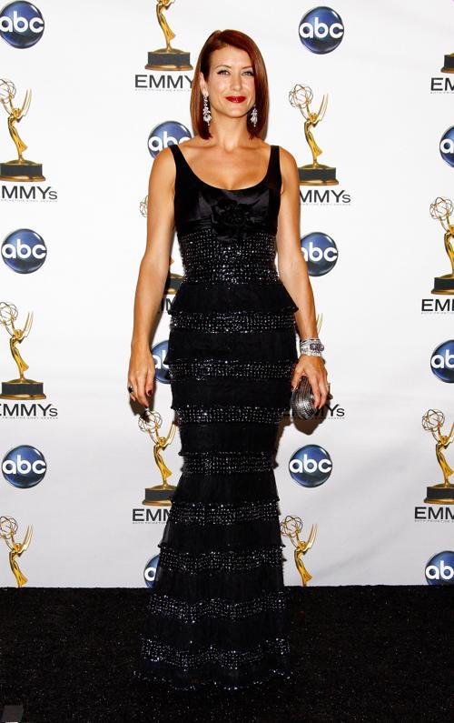 Актриса Кейт Уолш с клатчем от Джимми Чу. Фото: Frazer Harrison / Getty Images