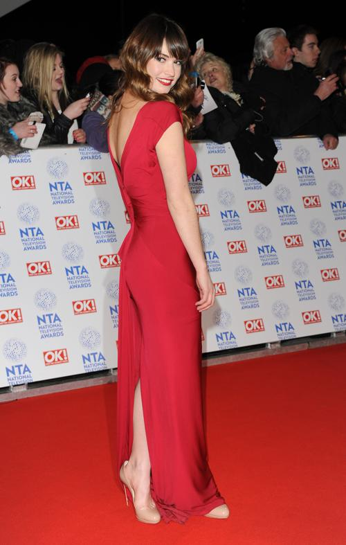 Лили Джеймс на церемонии вручения премии National Television Awards в Лондоне, 23 января 2013 года. Фото: Stuart Wilson / Getty Images