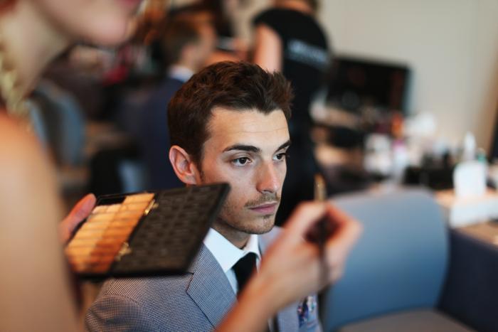 Жюль Бьянки, французский гонщик «Маруси» Формулы 1, участвует в модном показе Amber Lounge в Монте-Карло. Фото: Mark Thompson/Getty Images