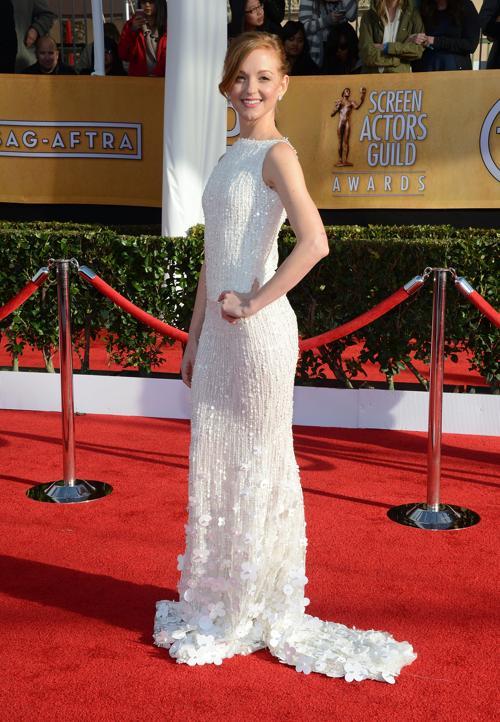 Актриса Джайяма Мейс (Jayma Mays) на церемонии вручения премии гильдии киноактёров США, 27 января 2013 года, Лос-Анджелес. Фото: Jason Kempin/Getty Images