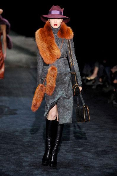 Осень-зима 2011: коллекция от итальянского дома моды Gucci, 23 февраля 2011, Милан, Италия. Фото: Tullio M. Puglia/Getty Images