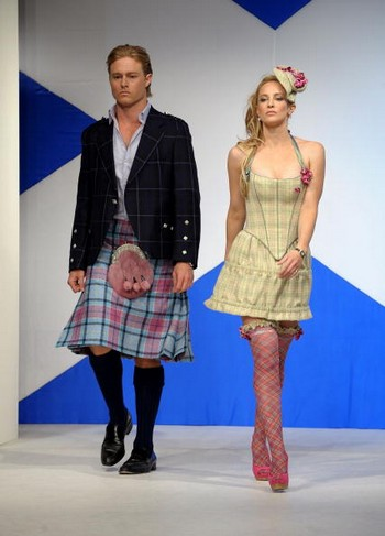 Показ  Dressed To Kilt  в шотландском стиле. Фото: Getty Images