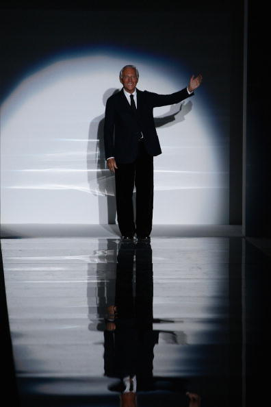 Дизайнер Emporio Armani на миланской Неделе моды.Фото: Vittorio Zunino Celotto/Getty Images