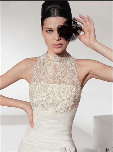 Свадебное платье белое с черным
