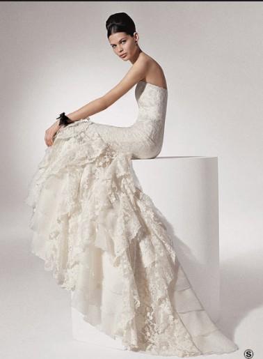 Фоторепортаж. Свадебное платье - черное с белым. Фото с efu.com.cn