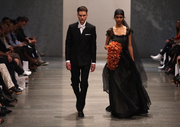 Свадебные платья на Неделе моды в Новой Зеландии. Фото: Sandra Mu/Getty Images