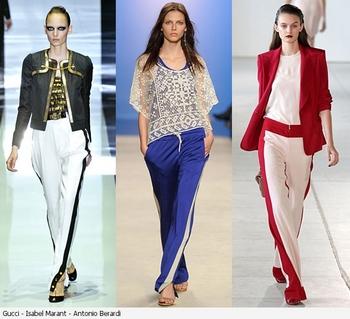 Хит сезона весна лето 2012 – брюки с лампасами. Фото: thebrend.com