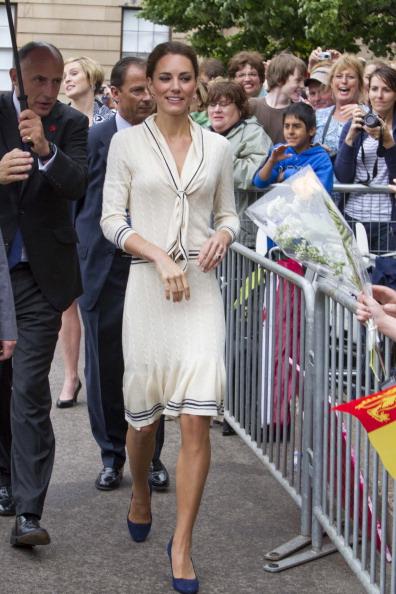 Кейт Миддлтон в платье от Alexander McQueen. Фото: Pool/Getty Images
