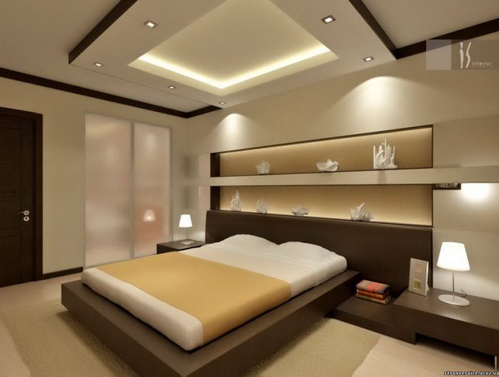 Спальня в стиле хай-тек. Фото: postomania.ru