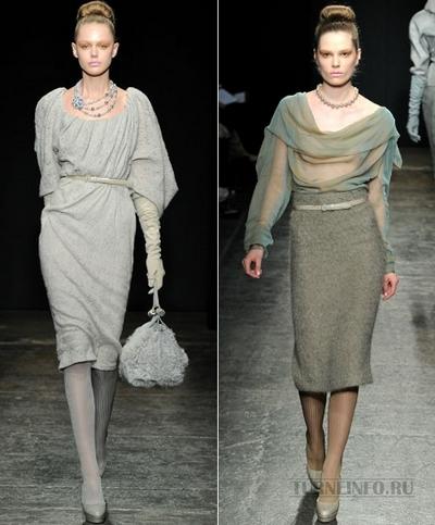 Модные платья осень-зима 2011-2012 от Donna Karan. Фото: turneinfo.ru