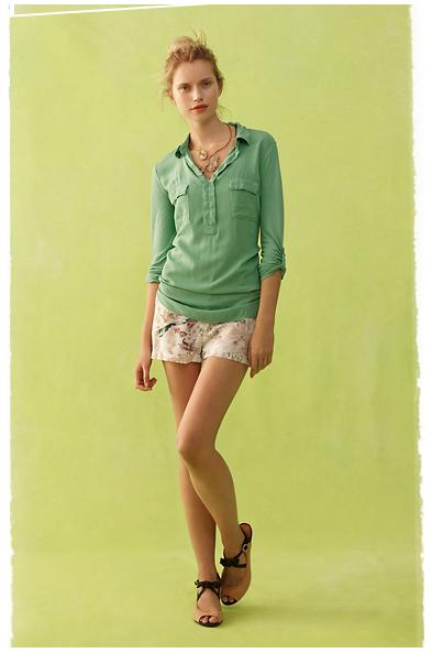 Как носить рубашки летом 2012. Фото: antropologie.com