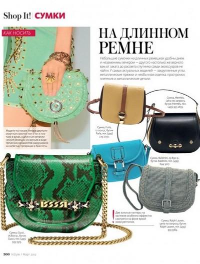 Модные тенденции сумок весна-лето 2012. Фото: fashionwalk.ru