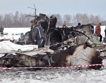 Крушение самолета ATR-72 под Тюменью. Фото РИА Новости