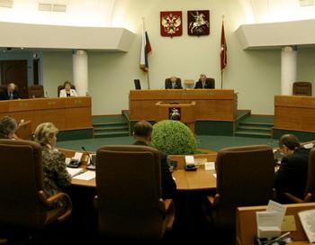 В зале заседаний Мосгордумы. Фото РИА Новости