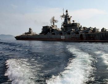 Корабль в Японском море. Фото РИА Новости