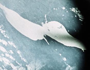 Вид планеты Земля с борта космического корабля. Фото РИА Новости