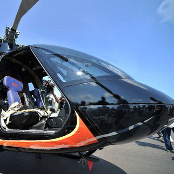 Презентация нового легкого многоцелевого вертолета Ми-34С1 . Фото РИА Новости