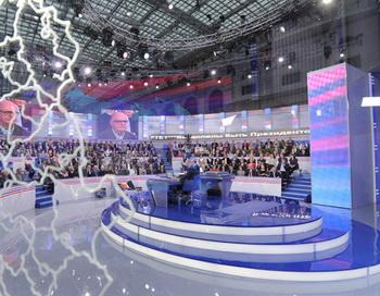 Прямая линия «Разговор с Владимиром Путиным. Продолжение». Фото РИА Новости