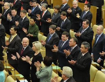Первое заседание Госдумы РФ шестого созыва. Фото РИА Новости