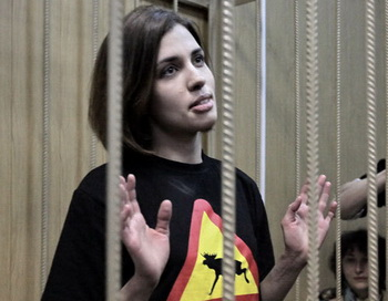 Участница группы Pussy Riot Надежда Толоконникова. Фото РИА Новости