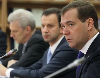 Президент России Дмитрий Медведев проводит совещание по вопросам образования. Фото РИА Новости