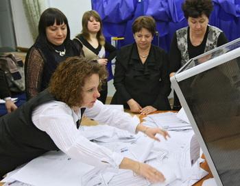 Подсчет голосов. Фото РИА Новости