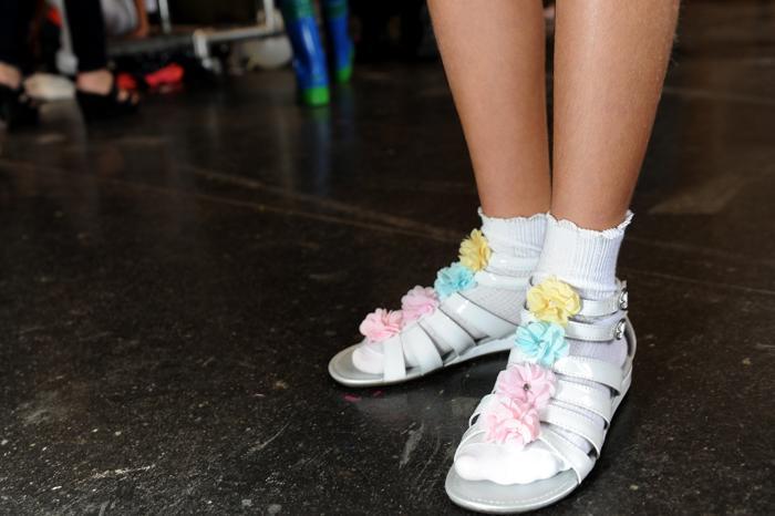 Новости. Вашингтон, 7 октября. Модный американский бренд Stride Rite представил 6 октября 2013 года в Нью-Йорке новую коллекцию детской одежды 2014 на Неделе детской моды. Фото: John Parra/Getty Images for Stride Rite