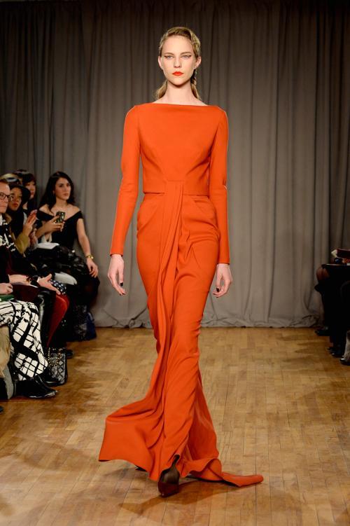 Модельер Зак Позен на нью-йоркской Неделе моды представил последнюю коллекцию женской одежды Zac Posen 2014 года. Фото: Frazer Harrison/Getty Images for Mercedes-Benz Fashion Week