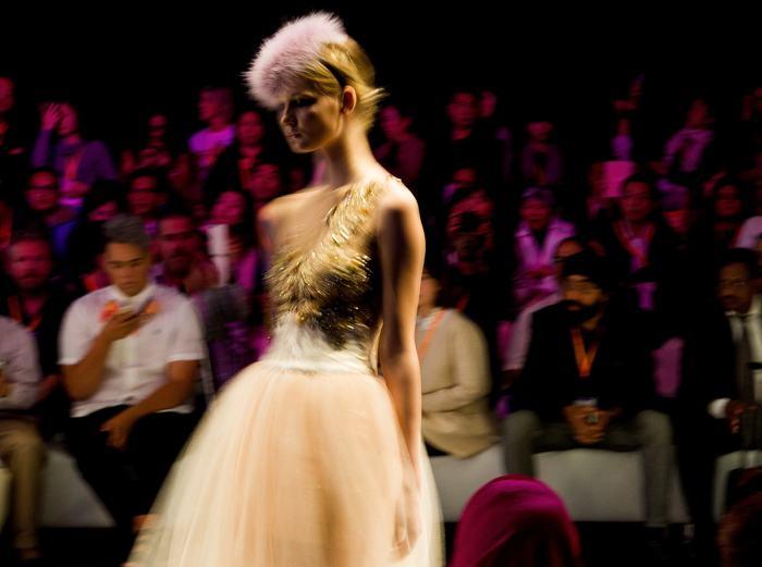 Первые показы гонконгской Недели моды прошли в выставочном центре города 13 января 2014 года. Фото: Gareth Gay/Getty Images