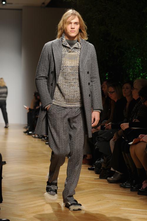 Модная итальянская марка одежды Missoni провела показ мужской коллекции осень-зима 2014 на миланской Неделе моды 12 января. Фото: Pier Marco Tacca/Getty Images