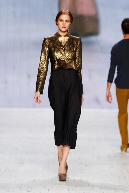 Модное шоу Pamb представило одежду швейцарского бренда 2014 в рамках Недели моды в Цюрихе 14 ноября 2013 года. Фото: Andreas Rentz/Getty Images
