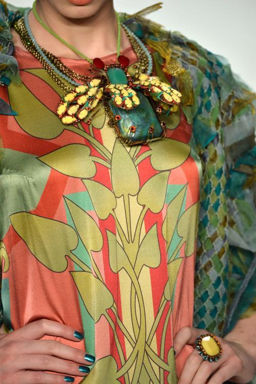 Миранда Константиниду — одна из ведущих мировых дизайнеров ювелирных изделий — представила коллекцию украшений и одежды на Неделе моды в Берлине 18 января 2014. Фото: Peter Michael Dills/Getty Images for IMG