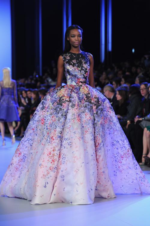 Эли Сааб представил новую коллекцию роскошных платьев Elie Saab сезона весна-лето 2014 в ходе Недели высокой моды 22 января. Фото: Pascal Le Segretain / Getty Images