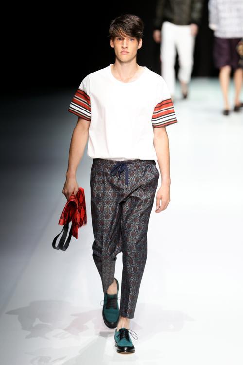 Андреа Помпилио представил в Милане мужскую коллекцию лето 2014. Фото: Vittorio Zunino Celotto/Getty Images