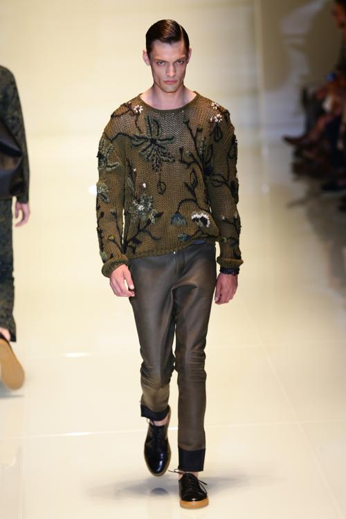 Модный дом Gucci представил мужскую коллекцию весна-лето 2014 в Милане. Фото: Vittorio Zunino Celotto/Getty Images