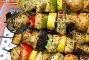 Вегетарианские рецепты. Шашлык из картофеля. Фото с vsemvkusno.ru