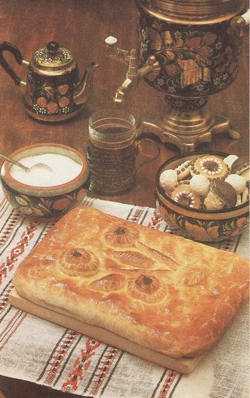 Праздничный пирог. Фото из книги