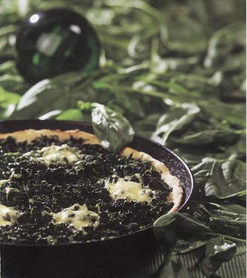 Оригинальная пицца со шпинатом. Фото Гвидо Каена из книги Лолиты Шелвах «Кушанья Латвии».